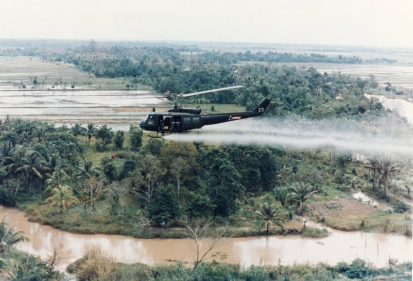 The military used the same herbicides in Thailand that were used in Vietnam.